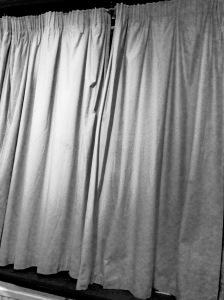 curtains social anxiety metaphor